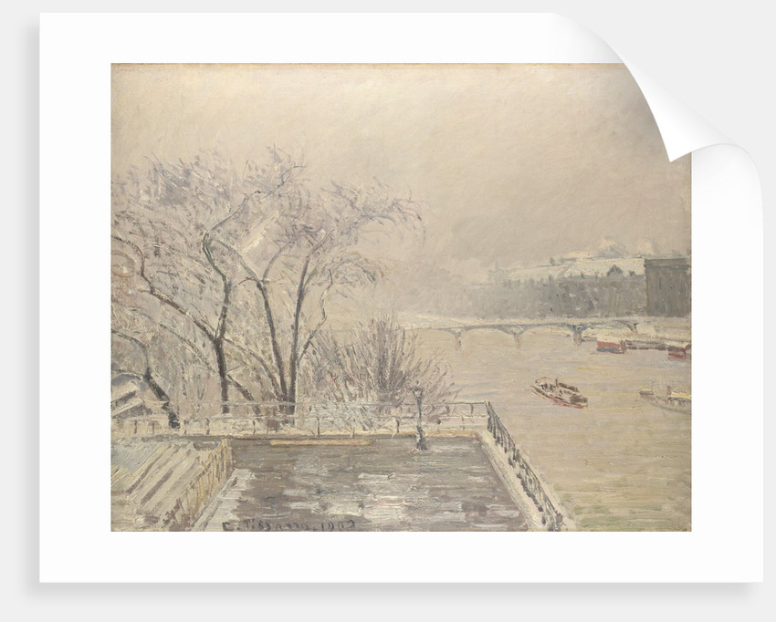 The Louvre under Snow, 1902 by Camille Pissarro