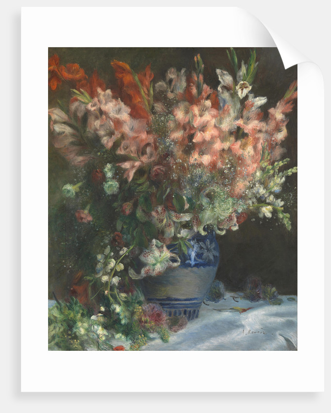 Gladioli in a Vase, c. 1875 by Pierre Auguste Renoir