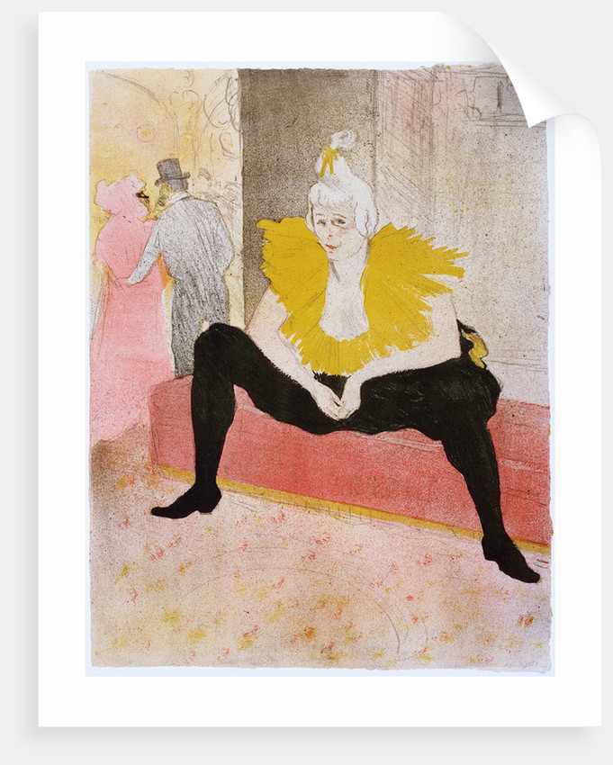Seated Clowness (Mademoiselle Cha-u-ka-o) by Henri de Toulouse-Lautrec
