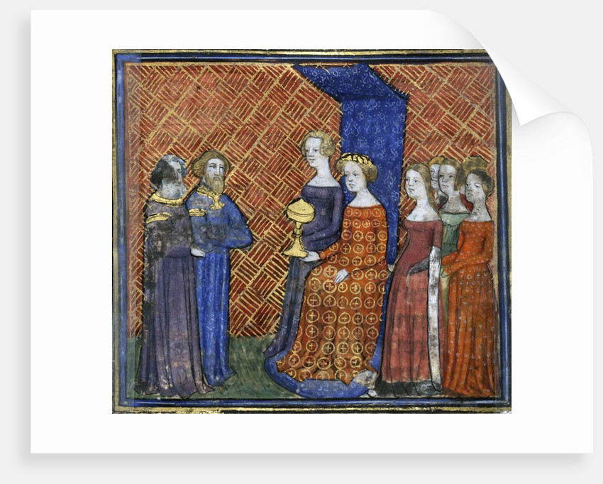 King Solomon Receiving the Queen of Sheba (from the Bible historiale by Guiart des Moulins) by Virgil Master