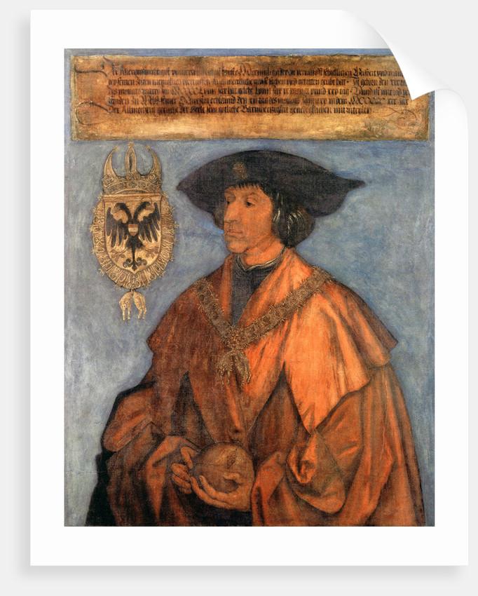 Portrait of Emperor Maximilian I (1459-1519) by Albrecht Dürer