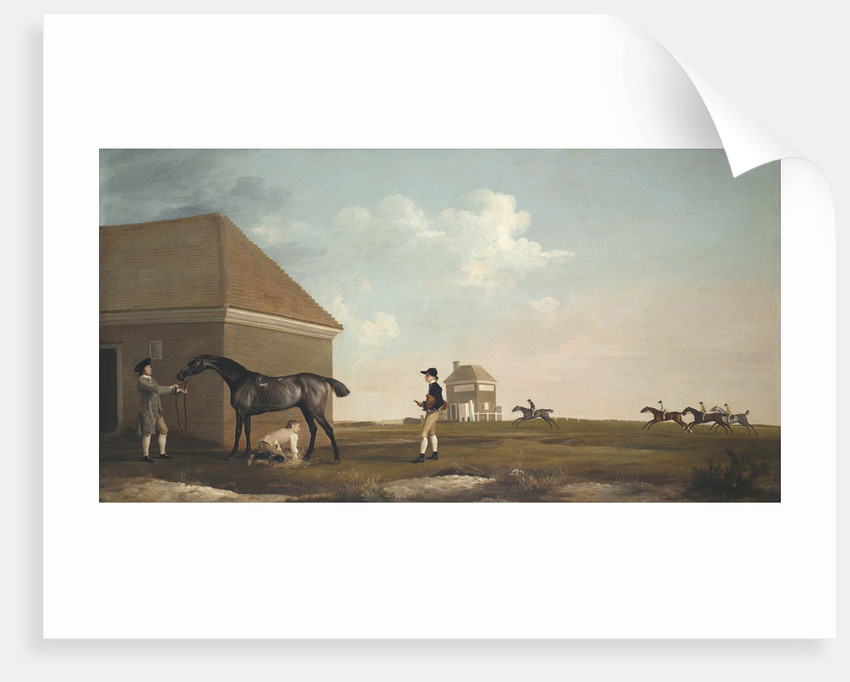 Gimcrack on Newmarket Heath, with a Trainer, a Stable-Lad, and a Jockey, 1765 by George Stubbs