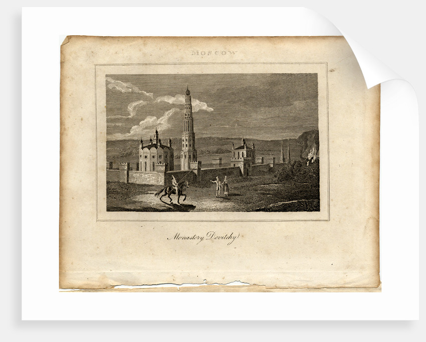 The Novodevichy Convent in Moscow, c. 1800 by Anonymous