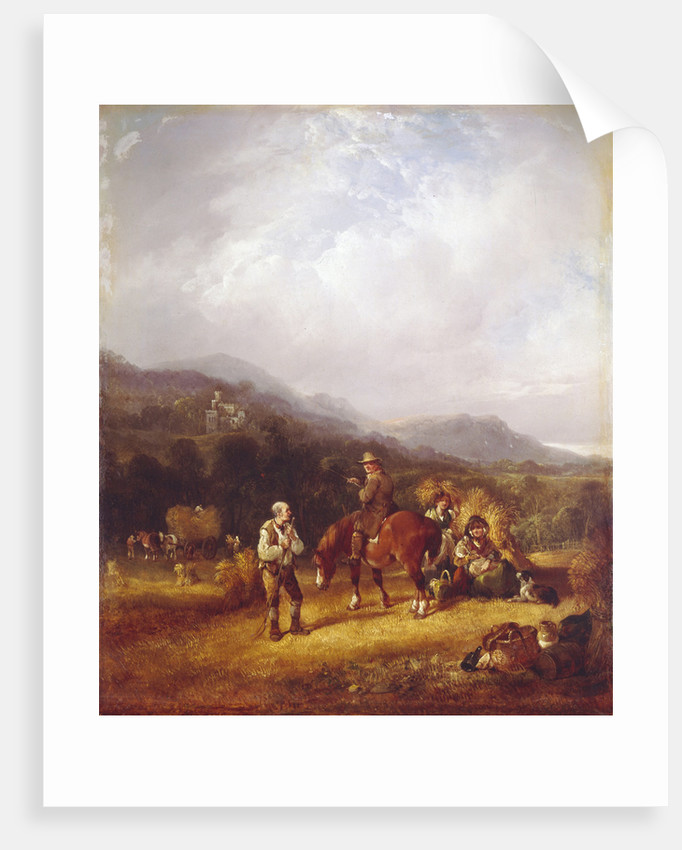The Wheat Harvest by William I Shayer