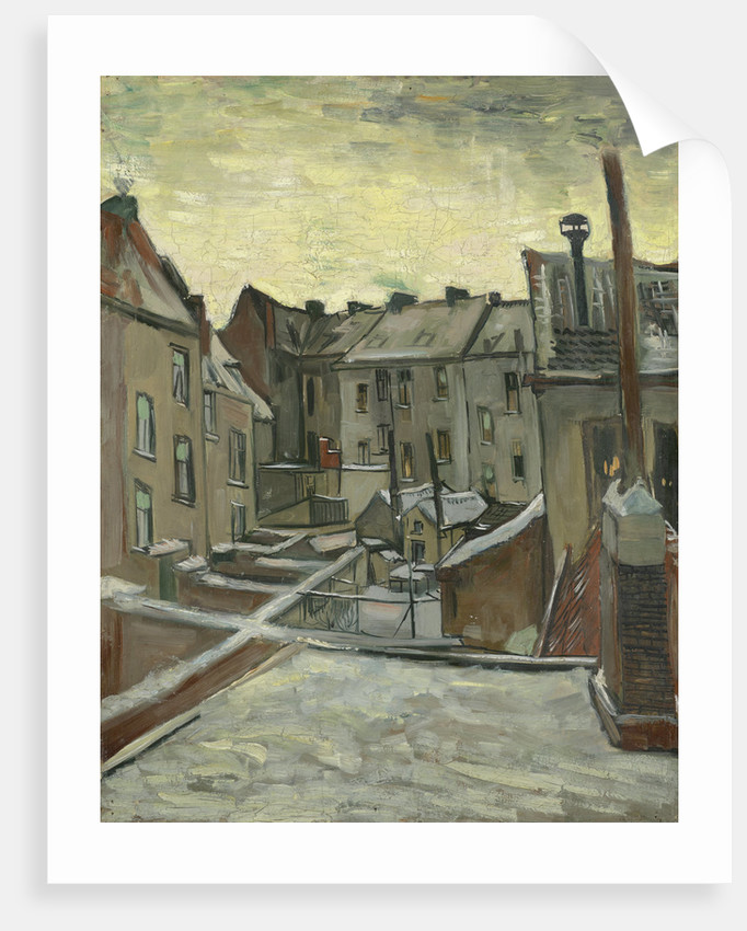 Houses seen from the back, 1885 by Vincent van Gogh