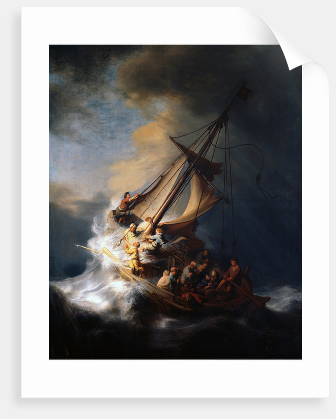 Christ in the Storm on the Lake of Galilee, 1633 by Rembrandt van Rhijn