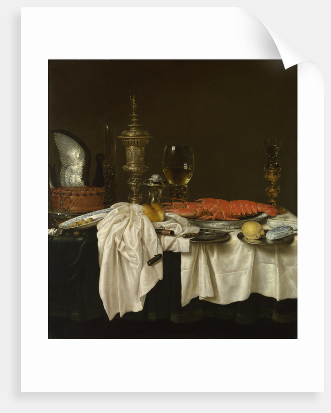 Still Life with a Lobster, c. 1650-1660 by Willem Claesz Heda