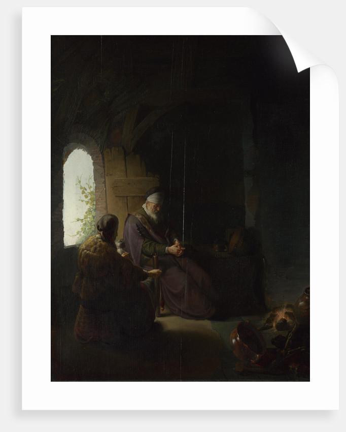Anna and the Blind Tobit, c.1630 by Rembrandt van Rhijn