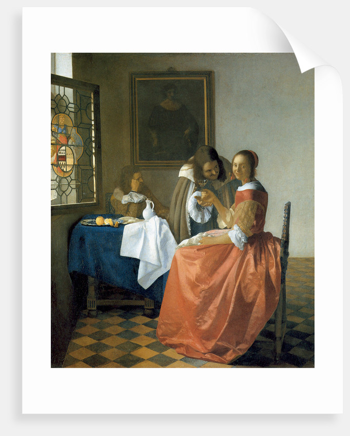 The Girl with the Wineglass by Jan Vermeer
