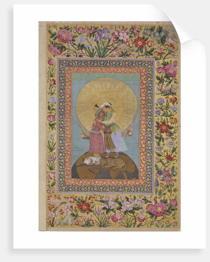 Jahangirs Dream. Abbas I, Shah of Persia (left) and Jahangir, Emperor of India, c. 1620 by Abu al-Hasan