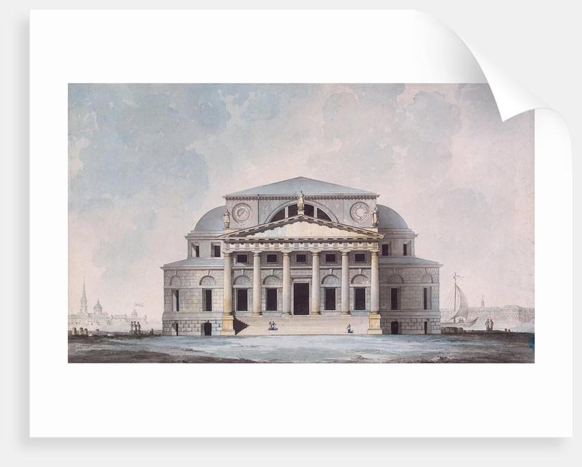 Facade of the Stock Exchange Building in Saint Petersburg, 1783 by Giacomo Antonio Domenico Quarenghi