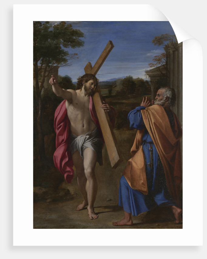 Christ appearing to Saint Peter on the Appian Way (Domine, Quo Vadis?), ca 1602 by Annibale Carracci