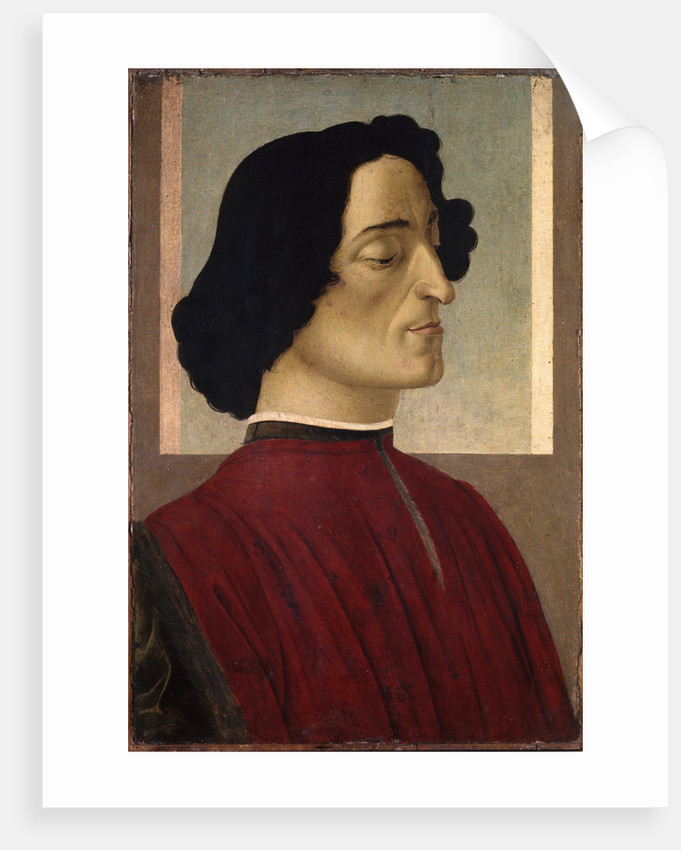 Portrait of Giuliano de' Medici by Sandro Botticelli