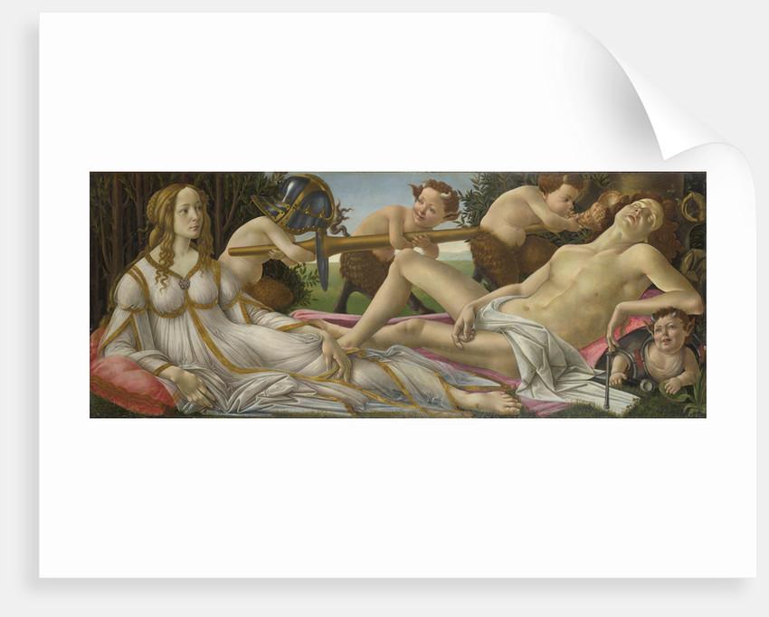 Venus and Mars, ca 1485 by Sandro Botticelli