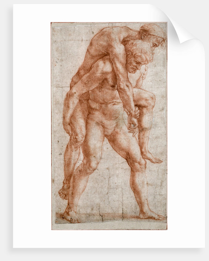 Young Man Carrying an Old Man on His Back (Aeneas and Anchises)