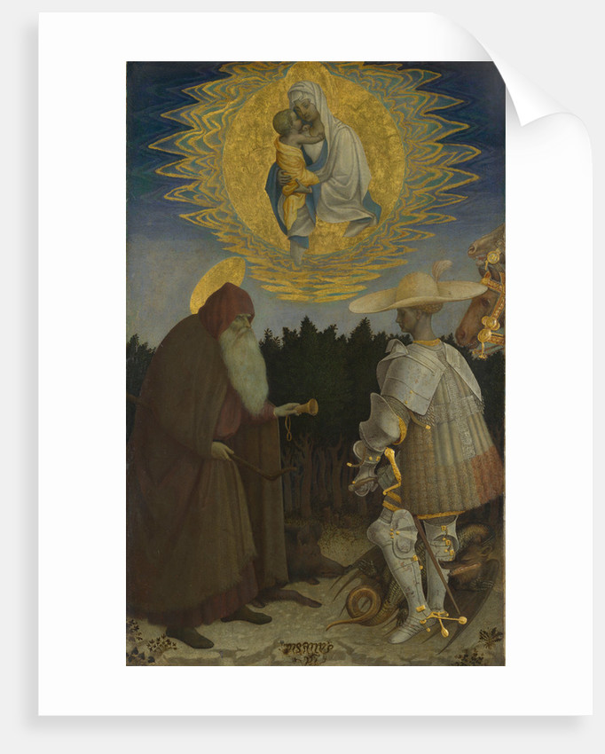 The Virgin and Child with Saints Anthony Abbot and George, c. 1440 by Antonio Pisanello