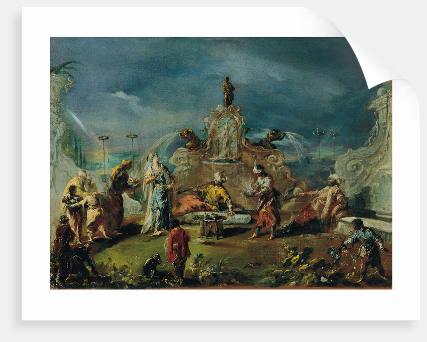 Scene in the Garden of a Serraglio, ca 1743 by Giovanni Antonio Guardi
