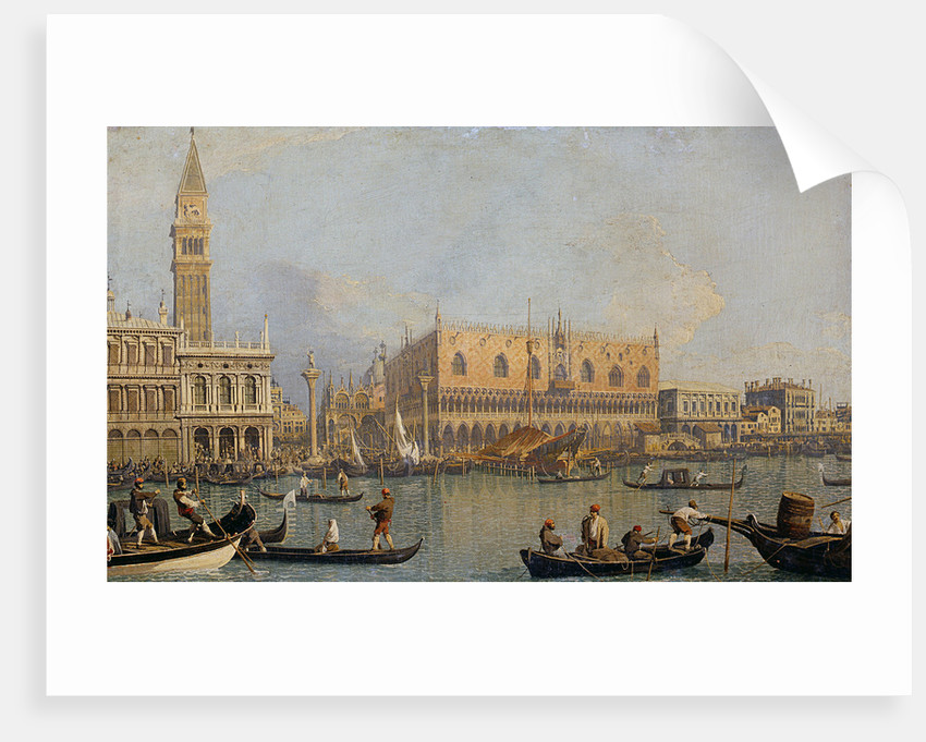 View of the Doge's Palace in Venice by Giovanni Antonio Canaletto