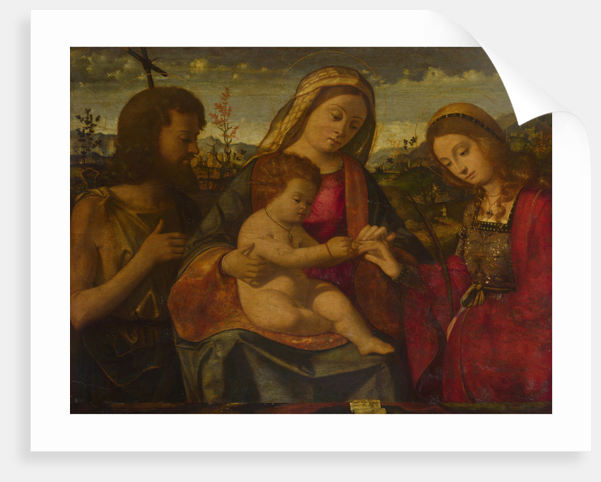 The Virgin and Child with Saints John the Baptist and Catherine, 1504 by Andrea Previtali