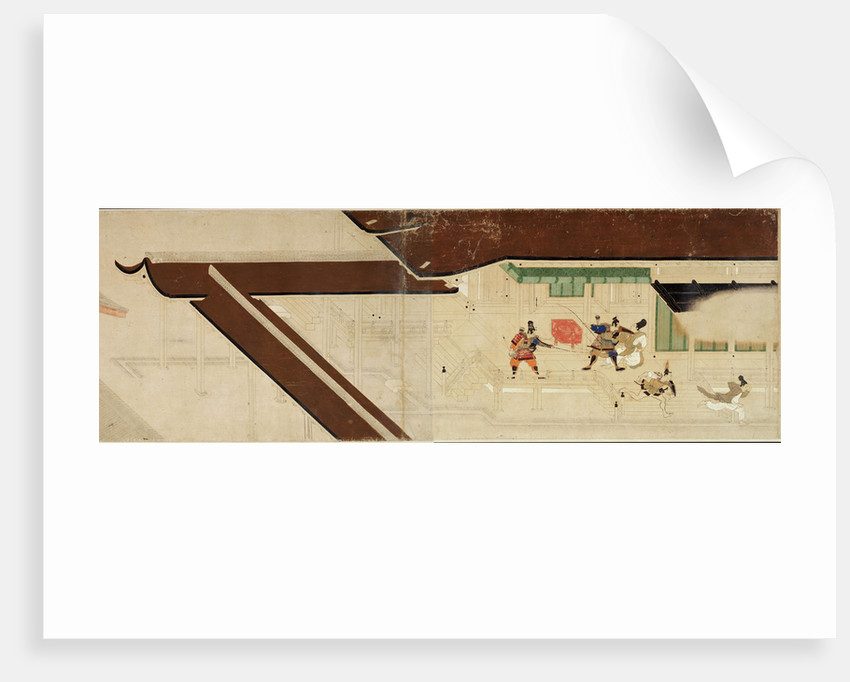 Illustrated Tale of the Heiji Civil War (The Imperial Visit to Rokuhara) 1 scroll, 13th century by Anonymous