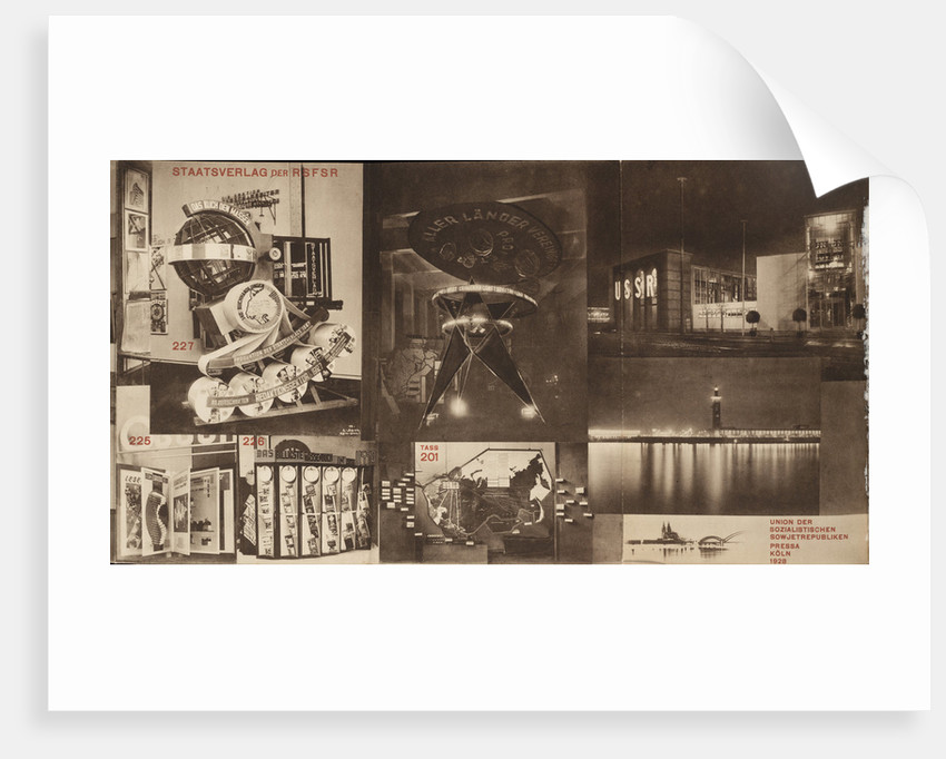 USSR. Catalogue of the Soviet pavilion at the International Press Exhibition, Cologne, 1928 by El Lissitzky