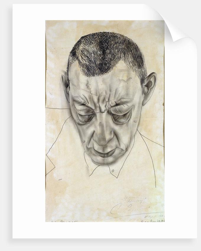 Portrait of the composer Sergei Rakhmaninov by Boris Dmitryevich Grigoriev