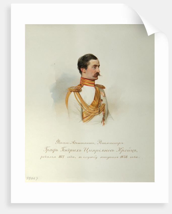 Portrait of Count Heinrich Cyprianovich von Kreutz by Vladimir Ivanovich Hau
