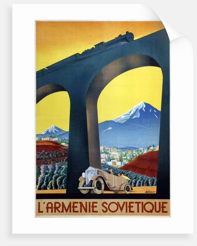 Soviet Armenia (Poster of the Intourist company) by Sergei Dmitrievich Igumnov