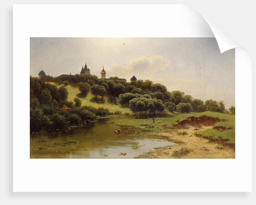 The Savvino-Storozhevsky Monastery near Zvenigorod, 1860 by Lev Lyvovich Kamenev
