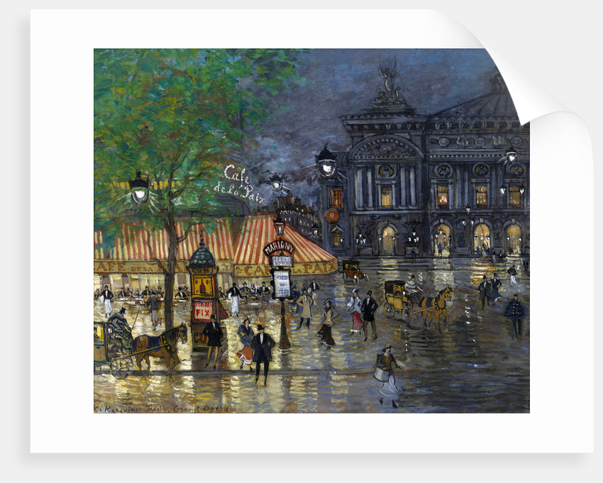 Place de l'Opéra, Paris by Alexeyevich Konstantin Korovin