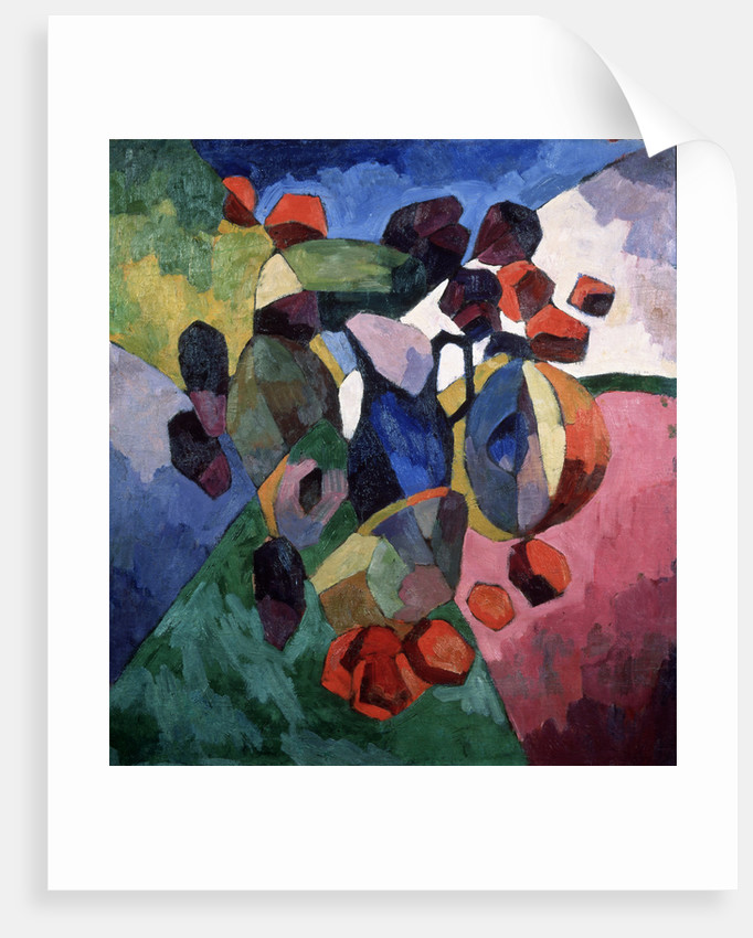Blue jug and fruits, 1913 by Aristarkh Vasilyevich Lentulov