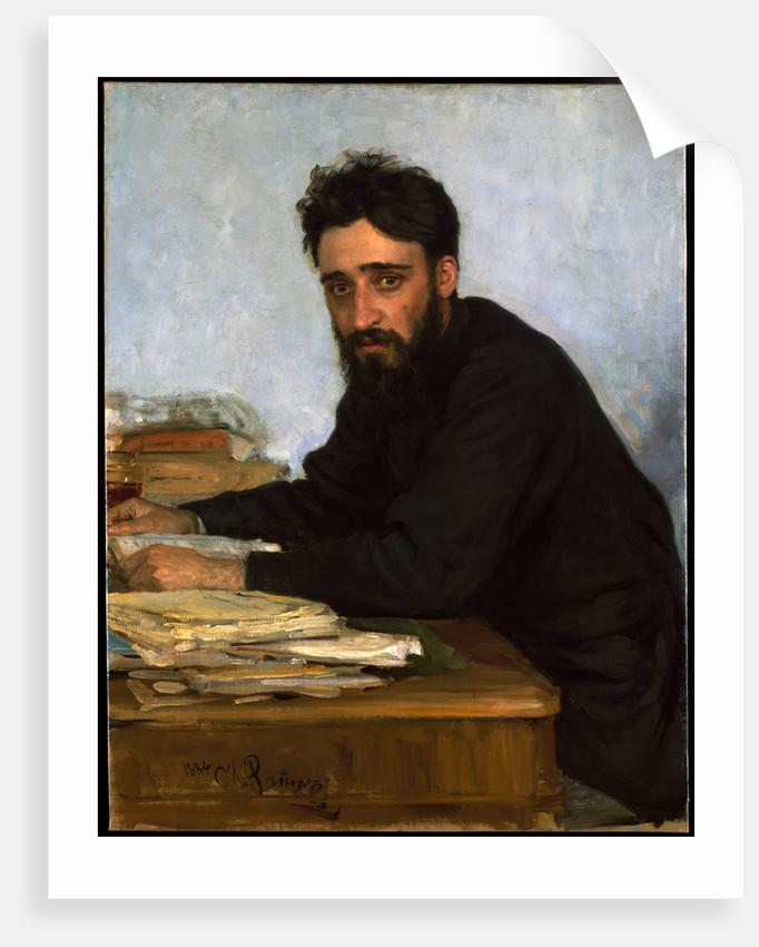 Portrait of the author Vsevolod M. Garshin, 1880s by Ilya Yefimovich Repin