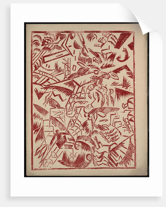 Illustration for the book The War by Aleksey Kruchenykh, 1916 by Olga Vladimirovna Rozanova