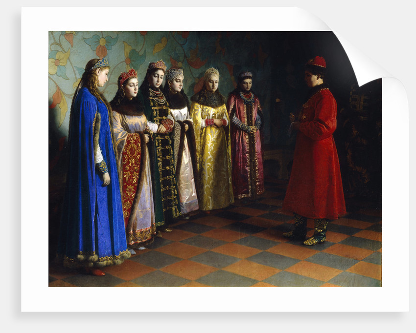 Tsar Alexei Mikhailovich Choosing a Bride, 1882 by Grigori Semyonovich Sedov
