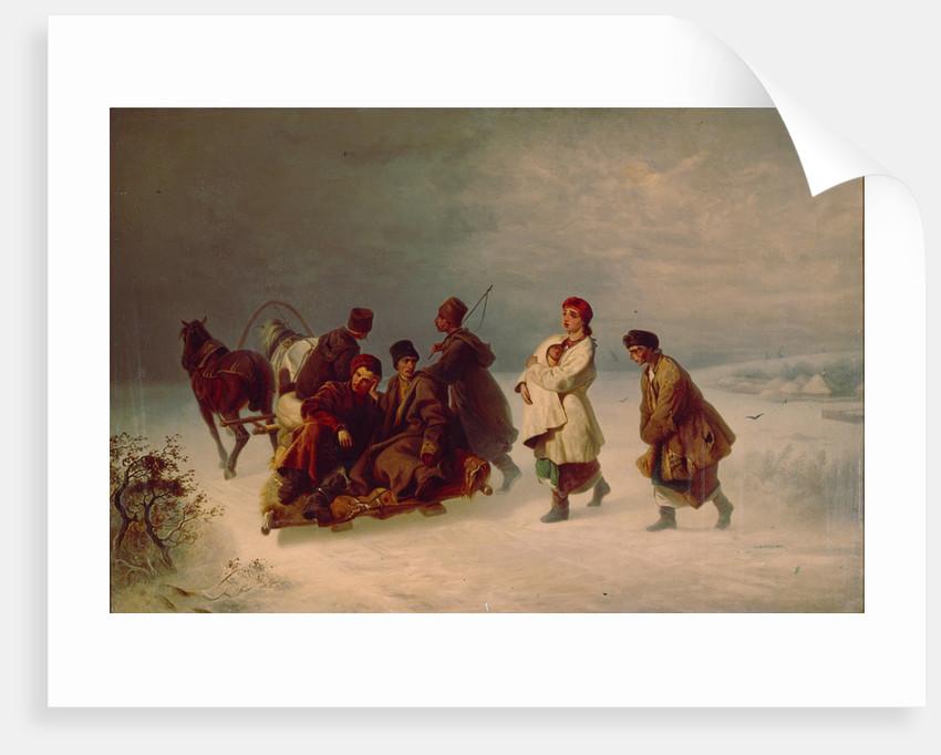 The Recruits Farewell, 1860 by Ivan Ivanovich Sokolov