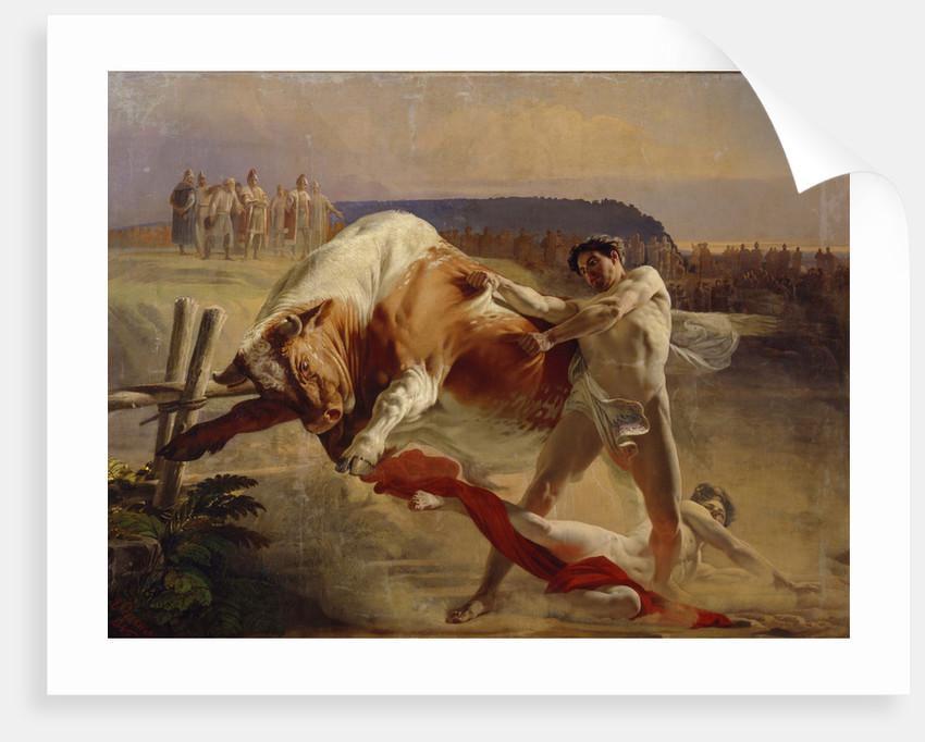 The Trial of Strength of Yan Usmovets, 1849 by Yevgraf Semyonovich Sorokin