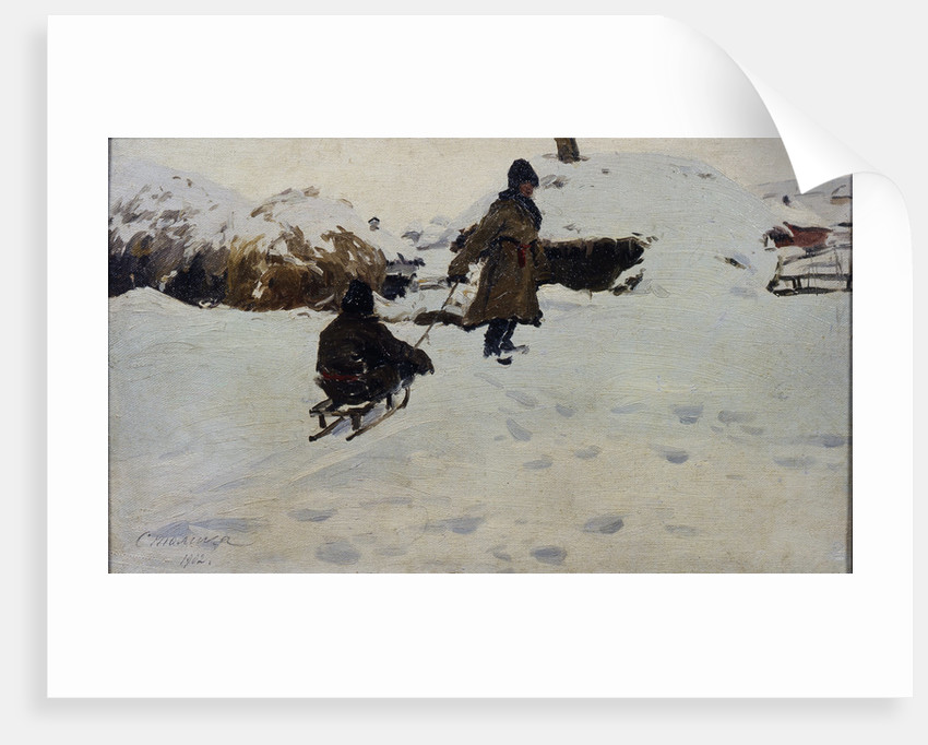 Winter, 1902 by Evgeni Ivanovich Stolitsa