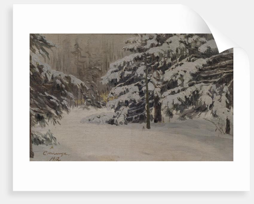 Winter on the islands of Saint Petersburg, 1912 by Evgeni Ivanovich Stolitsa