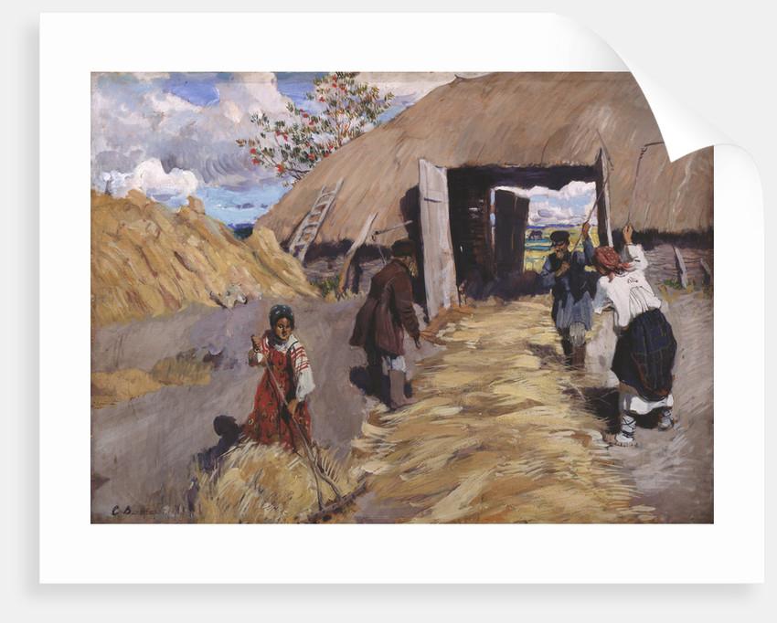 The Threshing, 1916 by Sergei Arsenyevich Vinogradov