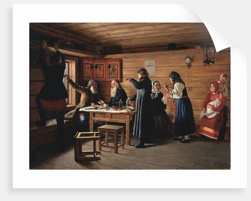 Religious controversy, 1867 by Dmitri Yegorovich Zhukov