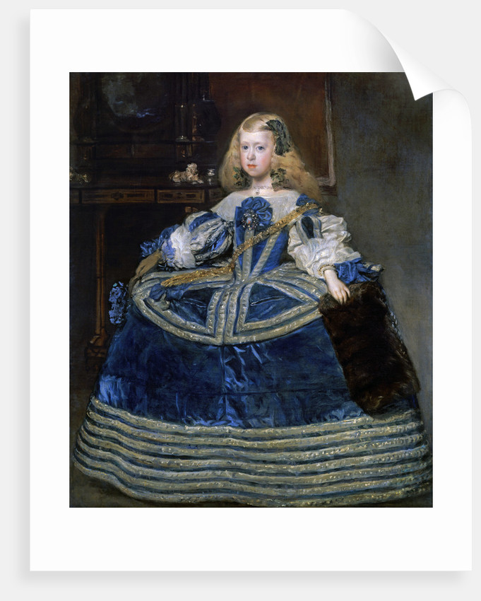 Infanta Margarita Teresa (1651-1673) in a Blue Dress by Diego Velazquez