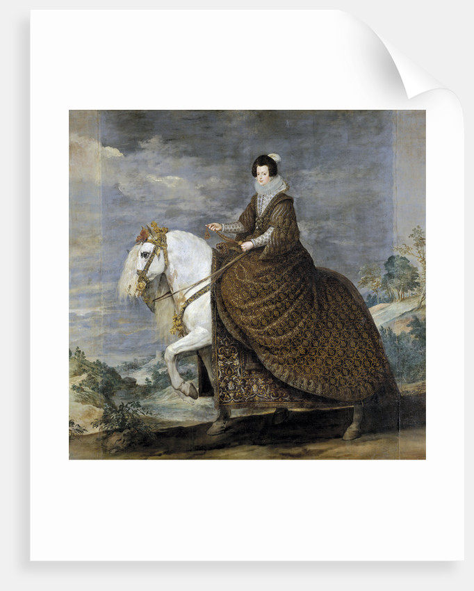 Equestrian Portrait of Elisabeth of France (1602?1644), Queen consort of Spain by Diego Velazquez