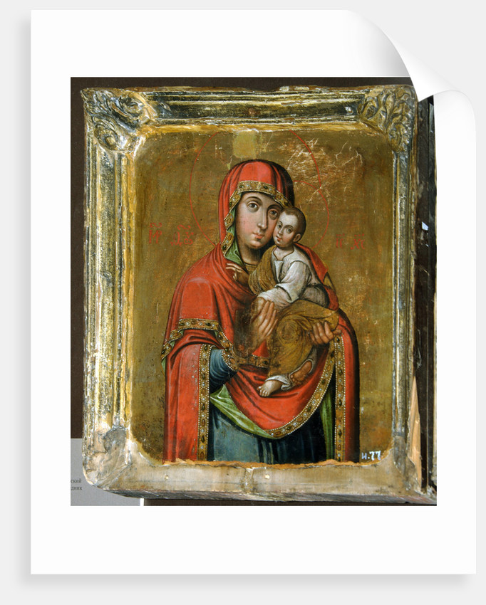 Kiev-Bratskaya Icon of the Mother of God, 18th century by Russian icon
