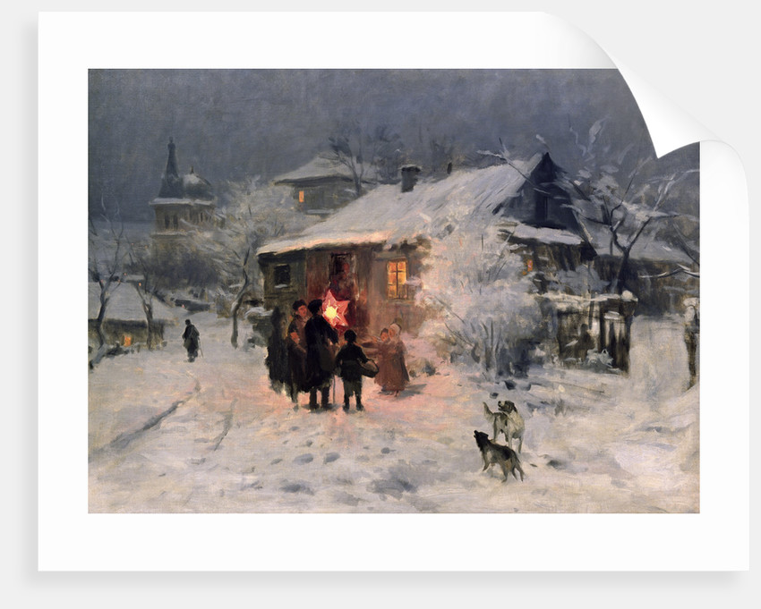 The Christmas carol in the Ukraine by Nikolai Kornilovich Pimonenko