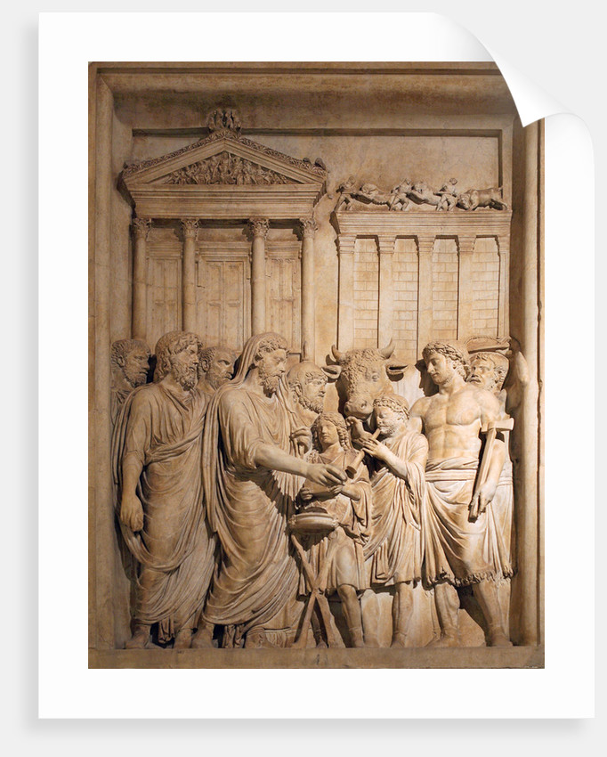 Marcus Aurelius and members of the Imperial family offer sacrifice in gratitude for success against Germanic tribes, ca 176-182 by Classical sculpture Art of Ancient Rome