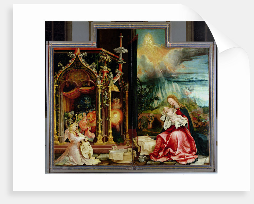 The Isenheim Altarpiece. Central panel: Concert of Angels and Nativity, 1506-1515 by Matthias Grünewald