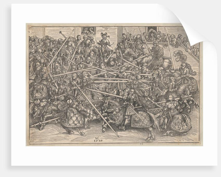 Tournament, 1509 by Lucas Cranach the Elder