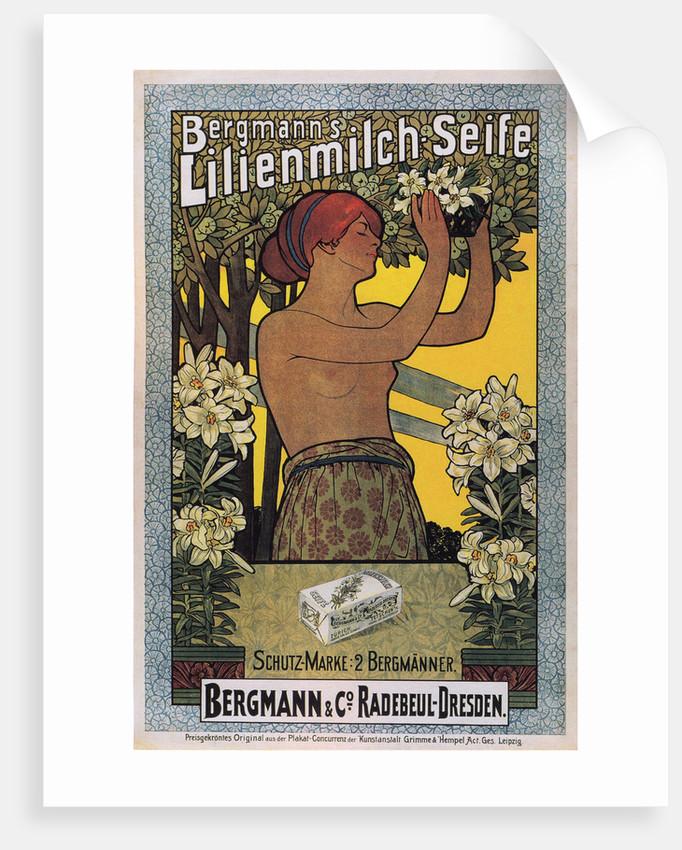 Bergmanns Lilienmilch Soap, 1896 by Johannes Joseph Vincenz Cissarz