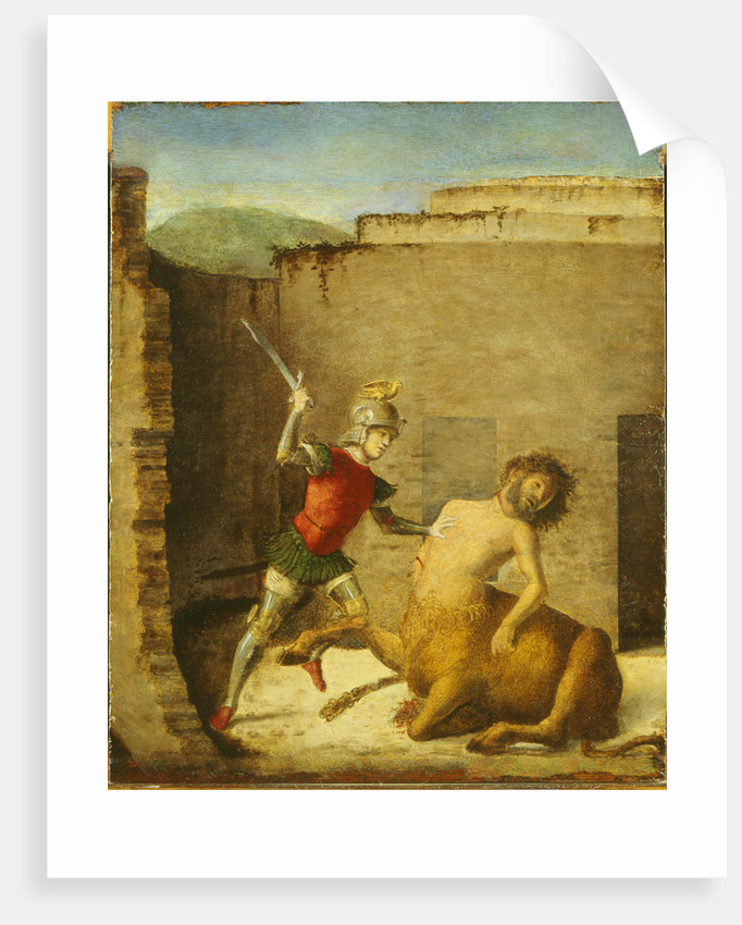 Theseus Slaying Minotaur, 1505 by Giovanni Battista Cima da Conegliano