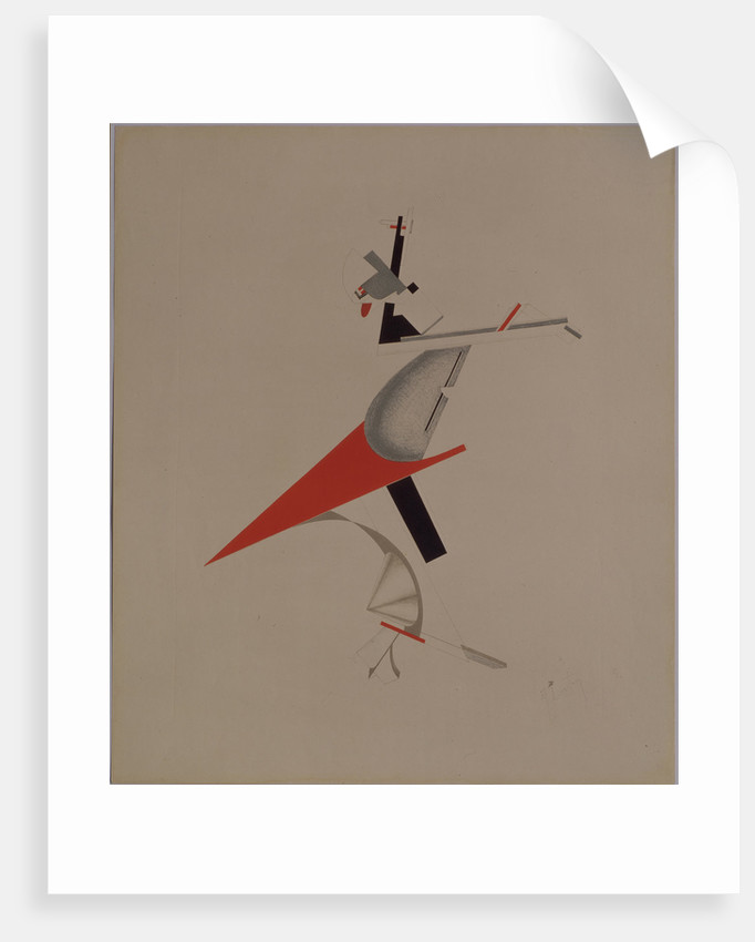 Ruffian. Figurine for the opera Victory over the sun by A. Kruchenykh, 1920-1921 by El Lissitzky